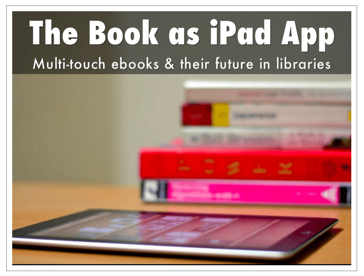 The Book as iPad App
