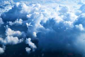 aerial photo of fluffy clouds