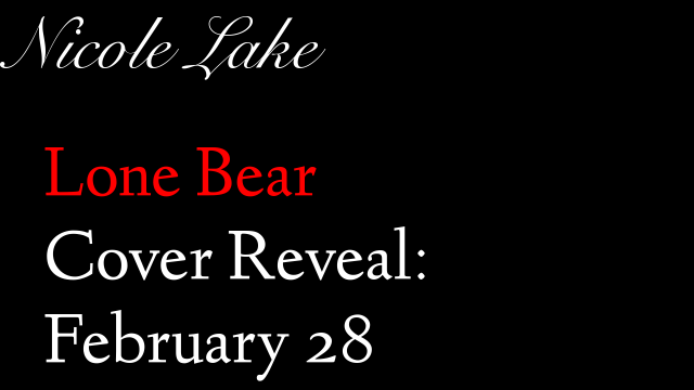 Lone Bear Cover Reveal: Feb 28