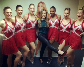 With the Rockettes