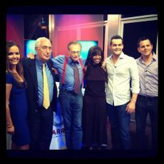 With Larry King and co. for election night coverage