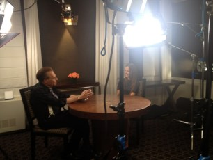 Show prep with Larry King