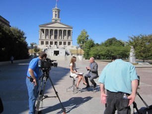 Interviewing the Governor of Tennessee for CNBC