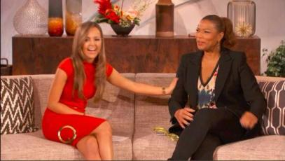 "Palling around on ""The Queen Latifah Show"""