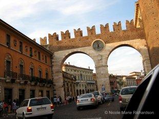 Roman doorway to downtown Verona