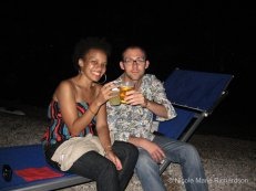 Tennille and Silvio at Restaurant Lido