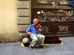 Man making music