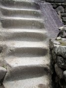 Stairs carved from one stone