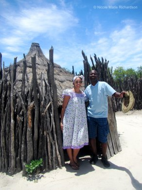Me (in my traditional dress) with Tangeni
