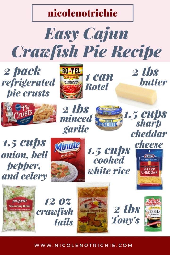 easy cajun food crawfish pie recipe tails hotel garlic tony's rice-2