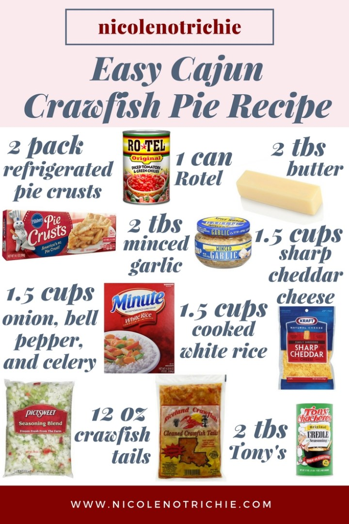 easy cajun food crawfish pie recipe tails hotel garlic tony's rice-2