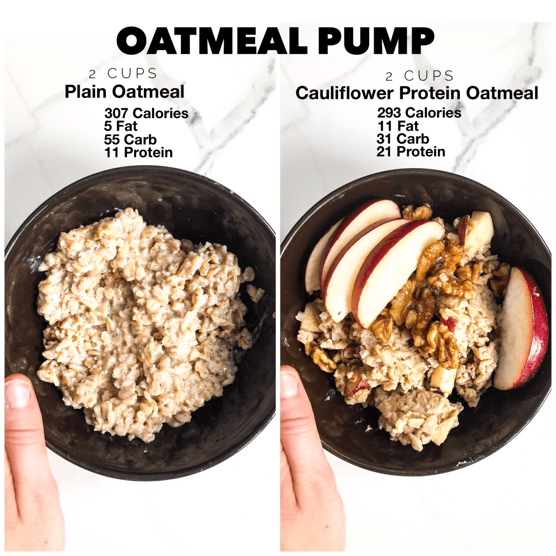 Apple Cinnamon Cauliflower Protein Oats A New High Protein Veggie Filled Breakfast Osinga Nutrition Registered Dietitian In The Durham Region