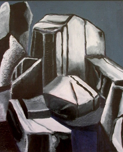 Enamel paint on canvas