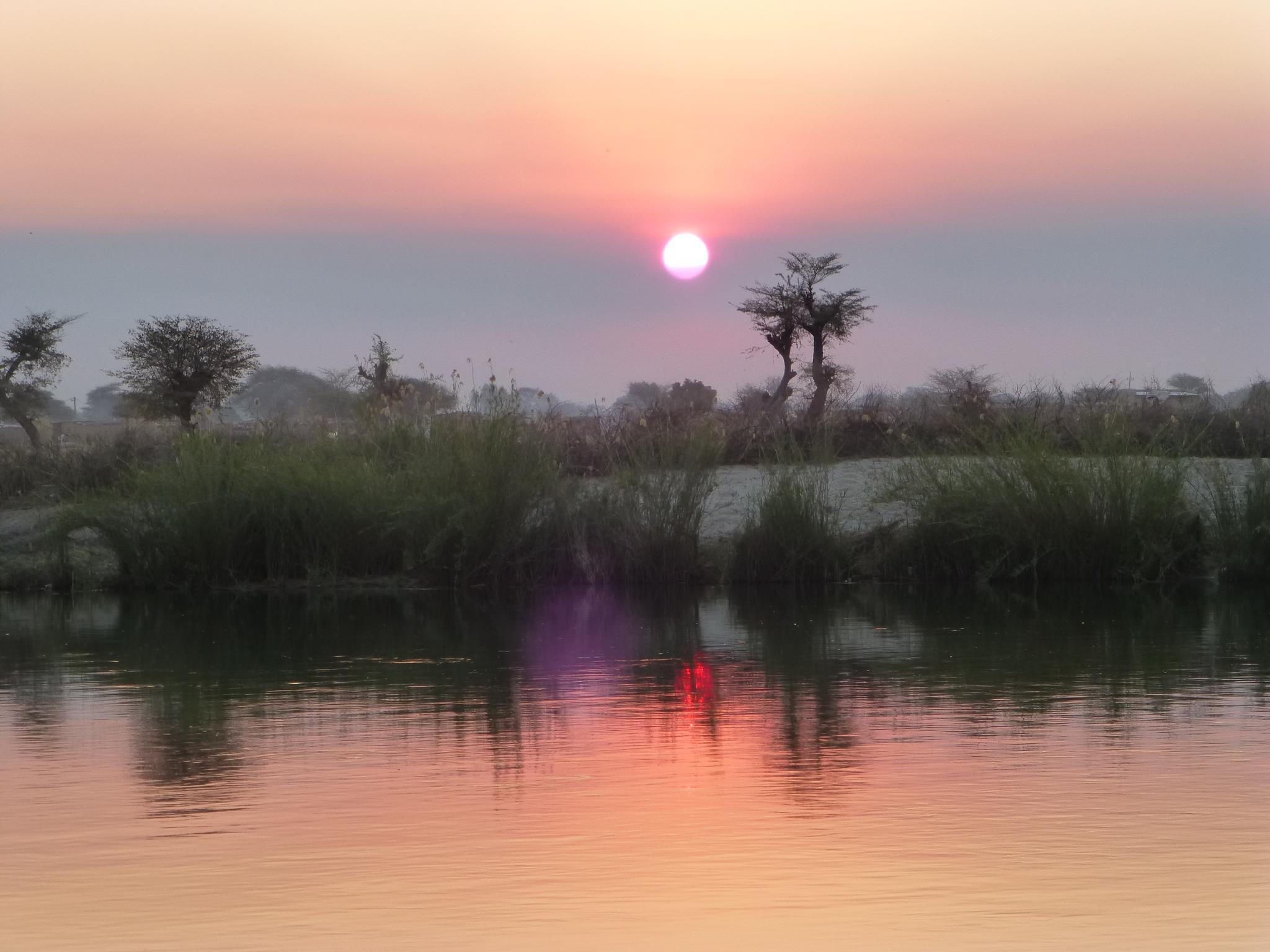 namibia-angola-border-sunset