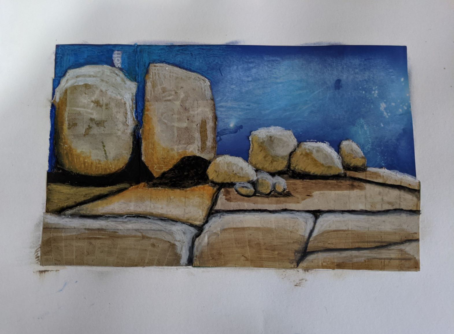 Rocky outcrop Wilsons Promontory collage