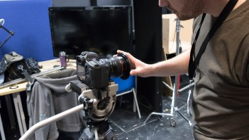 An adapter ring must be attached to lens.