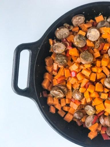 Autumn Sweet Potato Hash and Eggs