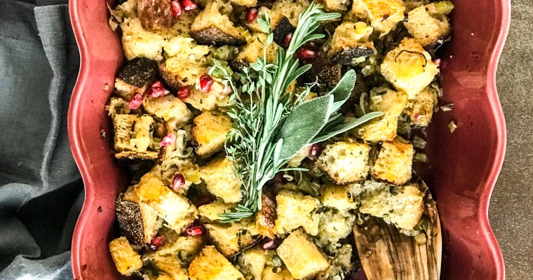 Vegetarian Sourdough Herb & Pomegranate Stuffing