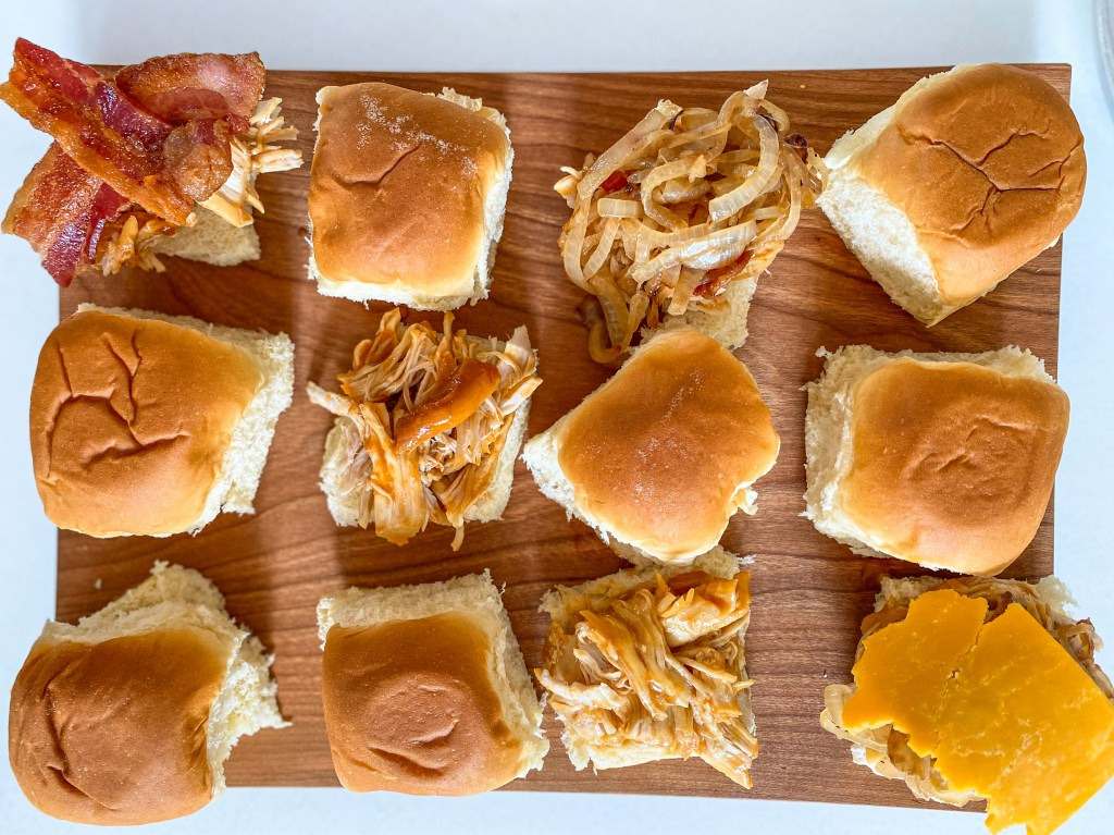 Favorite Crock-pot Smothered Barbecue Chicken Sliders