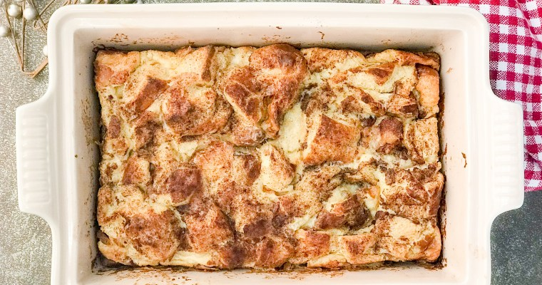 The Best Overnight Gingerbread French Toast Casserole