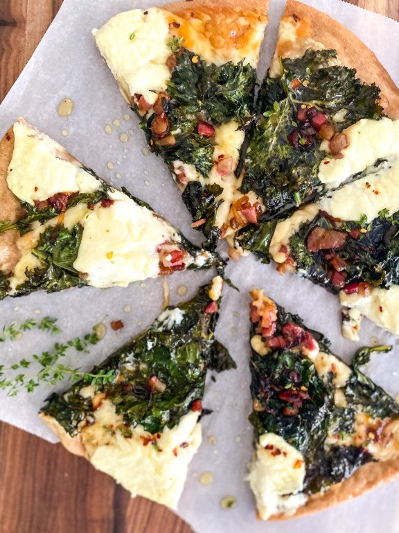 Hot Honey Kale & Ricotta Pizza
