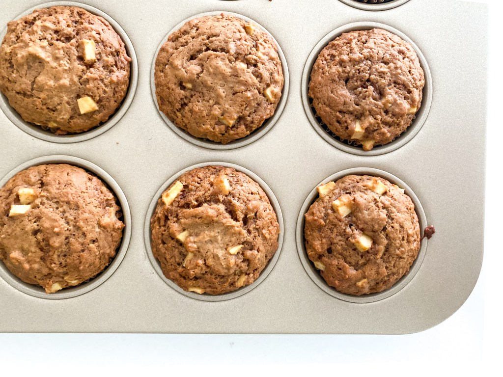 Stuffed Caramel Apple Muffins