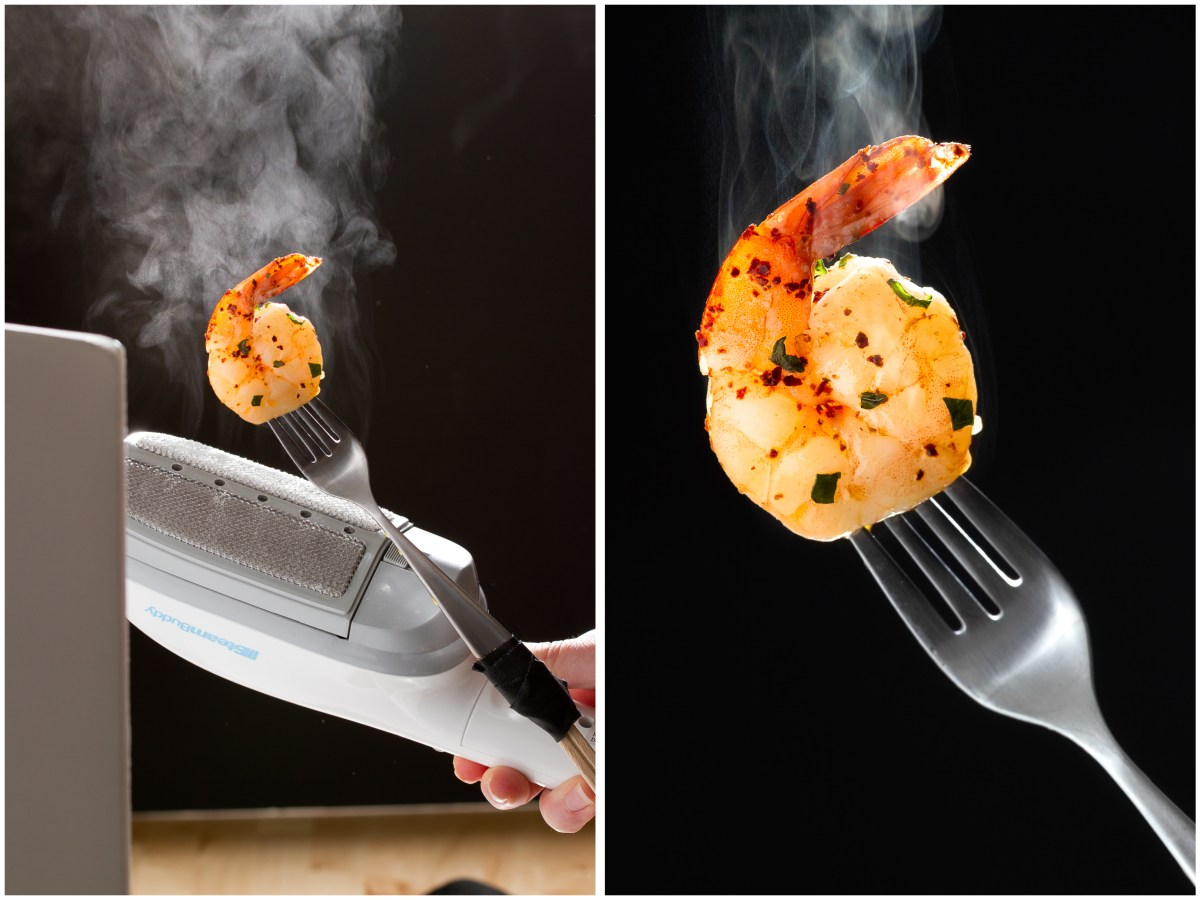 Food Photography: Hand Steamer