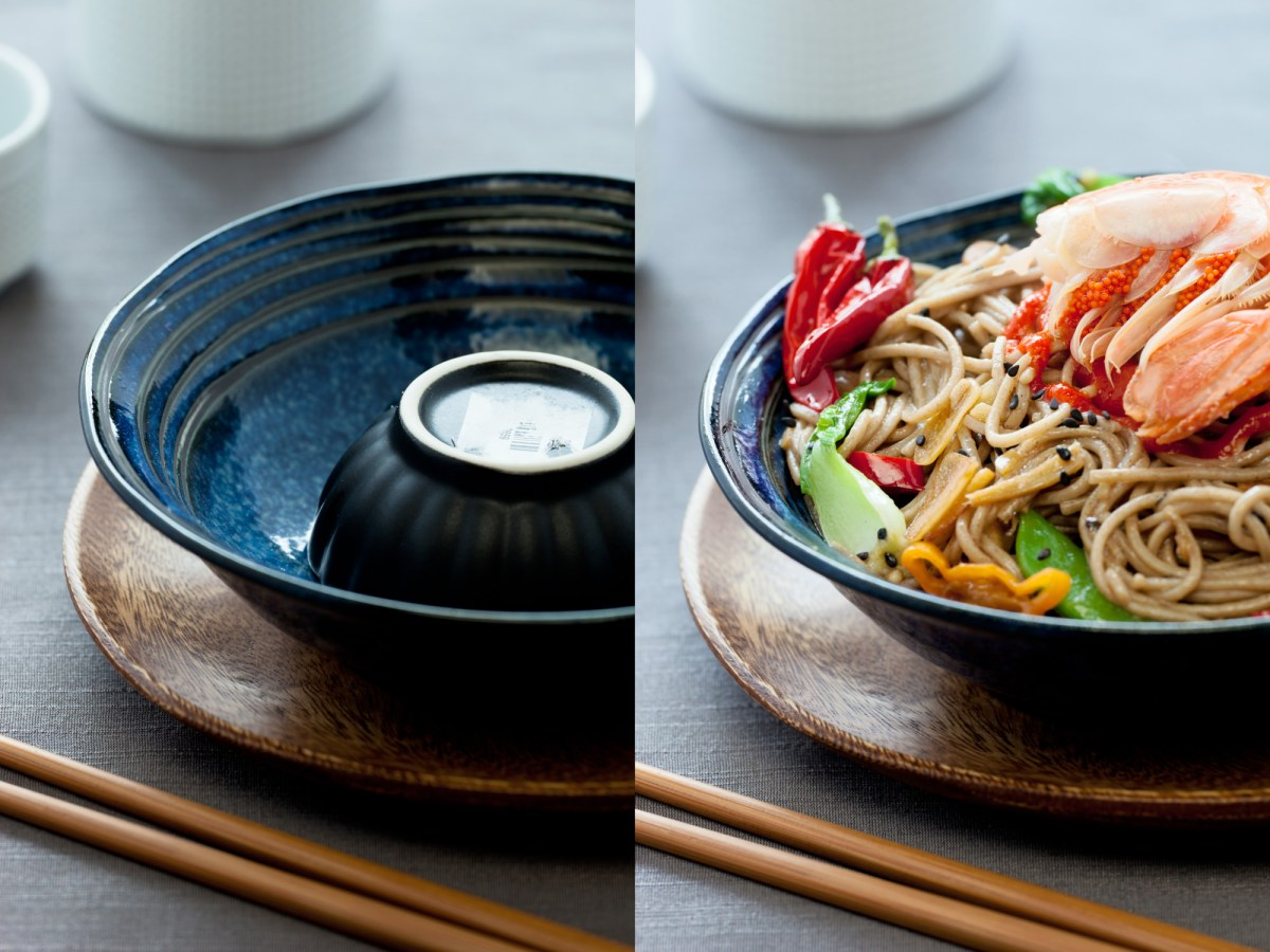 Food Photography: Styrofoam and small bowls