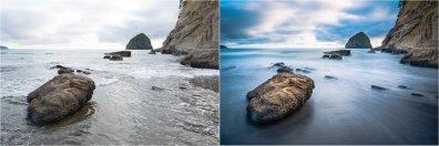 (Left) 1/45 sec; (Right) 30 sec — © Nicole S. Young (nicolesy.com)