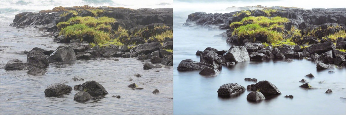 (Left) 1/10 sec; (Right) 6 sec — © Nicole S. Young (nicolesy.com)