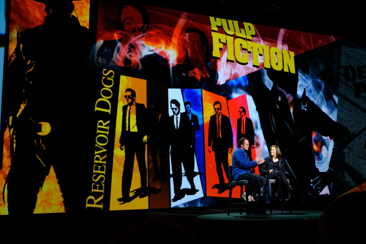 Quentin Tarantino speaking at Adobe MAX 2016