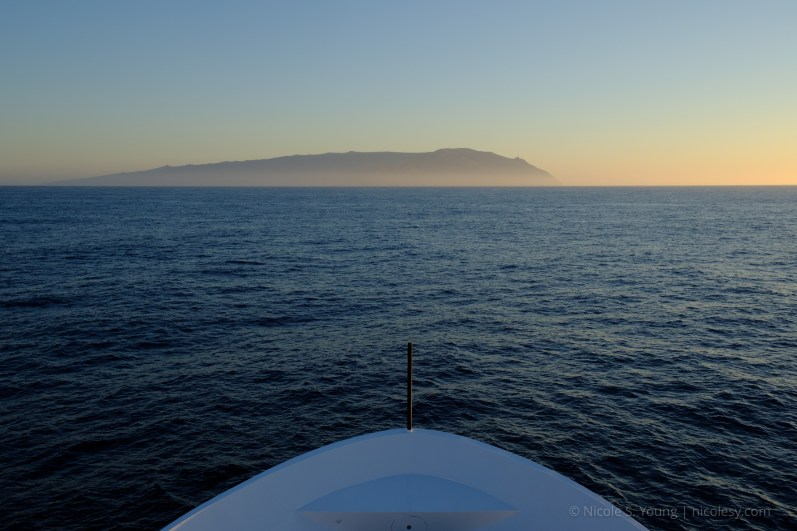 Guadalupe Island off in the distance.