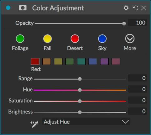 Color Adjustment filter