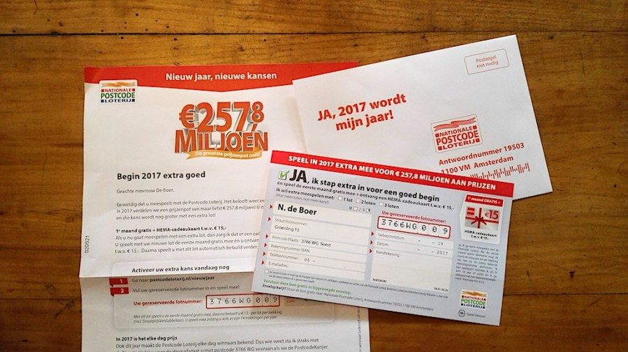 De Postcodeloterij, meedoen of opzeggen?