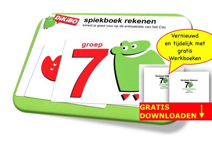 DiKiBO Spiekboekje rekenen groep 7 met gratis werkbladen