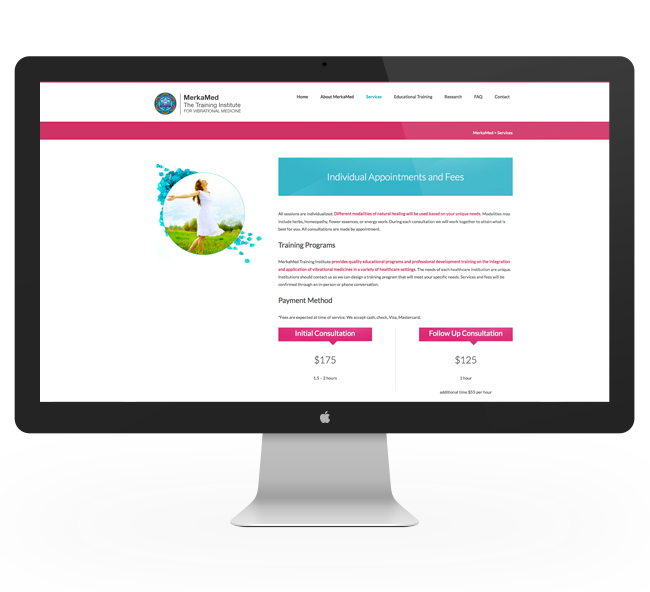 Website Design by Nicole Victory Design. MerkaMed