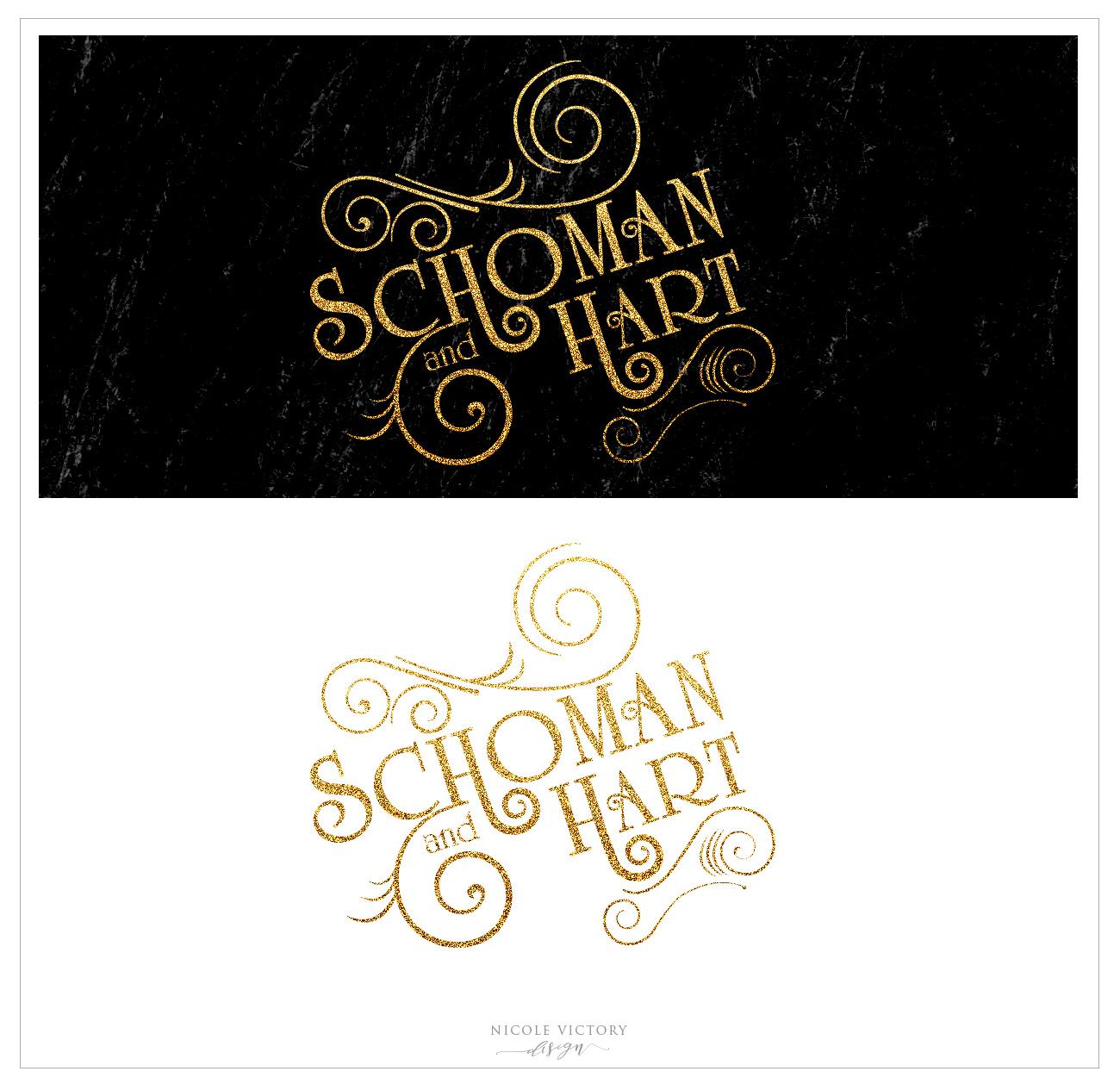 Logo Design by Nicole Victory Design. Schoman and Hart