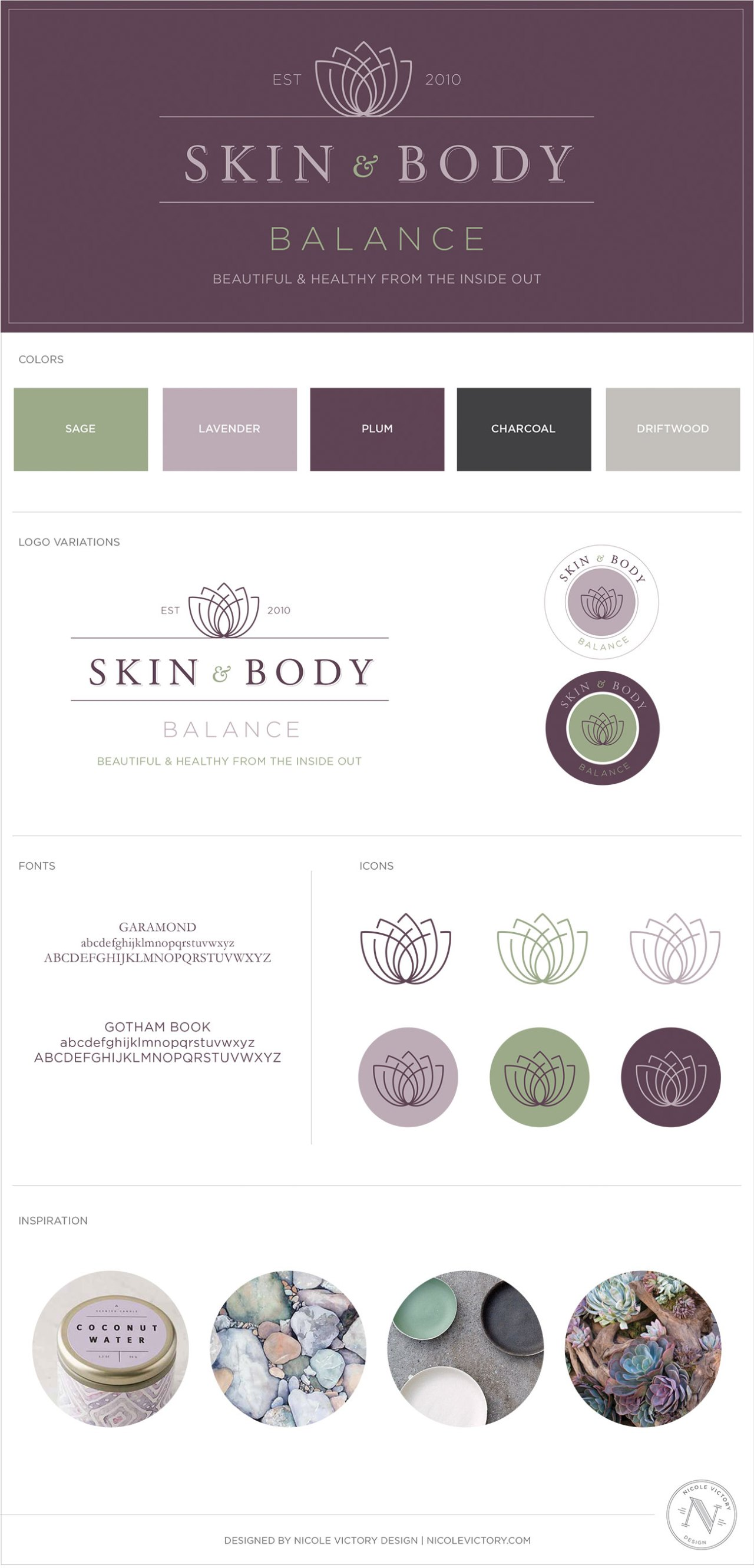 Skin and Body Balance Final Logo and Style Guide | Nicole Victory Design