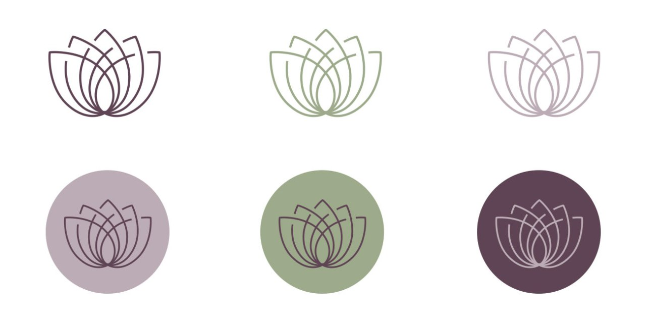 Skin and Body Balance Lotus Flower Icons | Nicole Victory Design