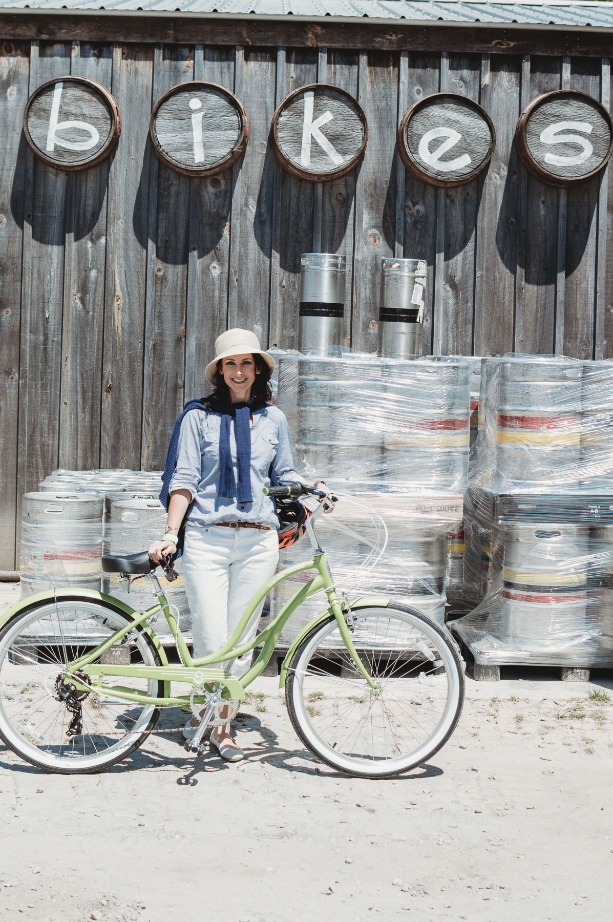 Cisco Brewers with Schwinn | Places to bike on Nantucket | Nicole Victory Design