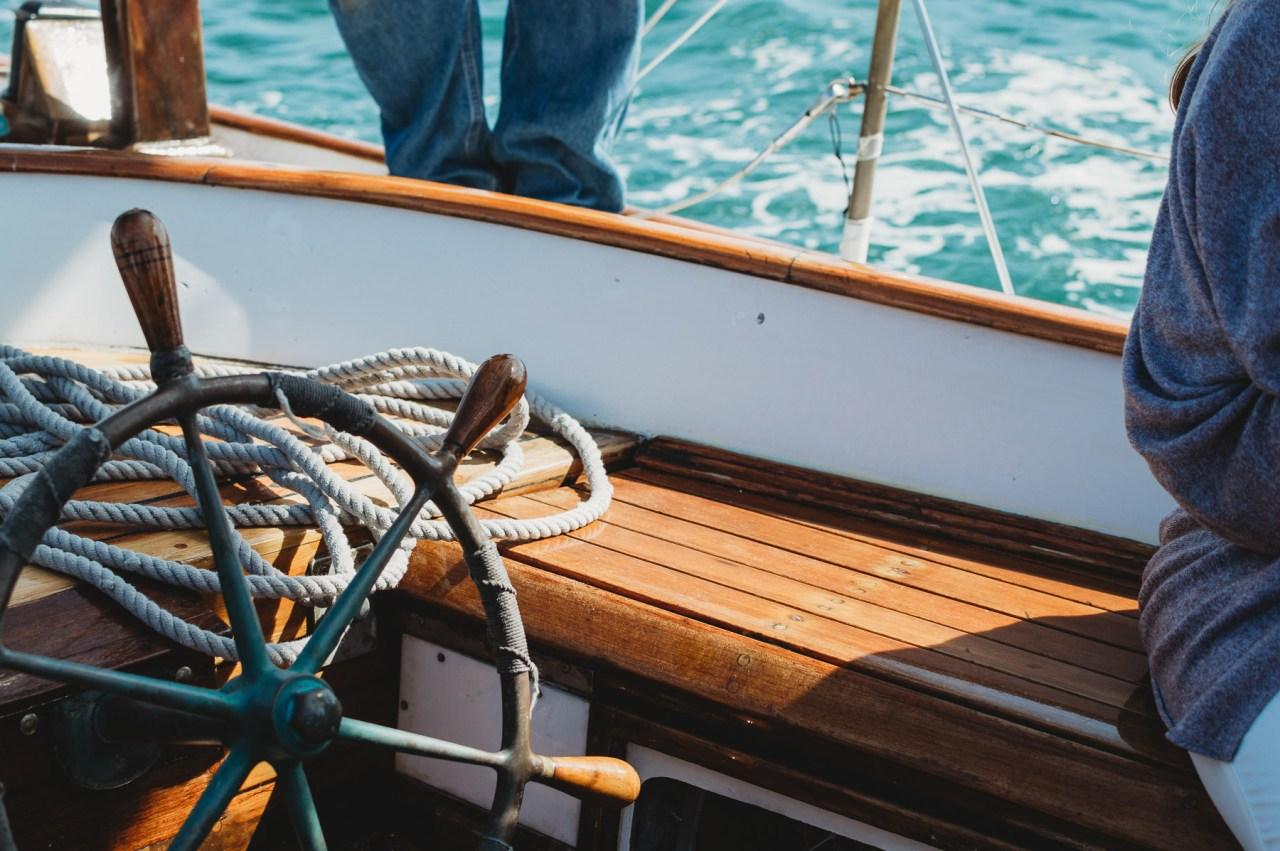Endeavor Sailing Boat in Nantucket | Nicole Victory Design