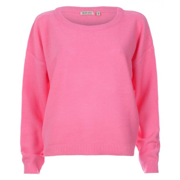 The young girl will wear a pink jumper as pink is associated with young children and is also seen as a innocent colour.