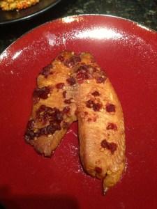 Tilapia with asian marinade