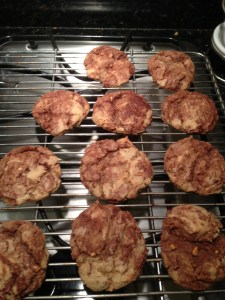 Tiger-striped chocoalte chip cookies