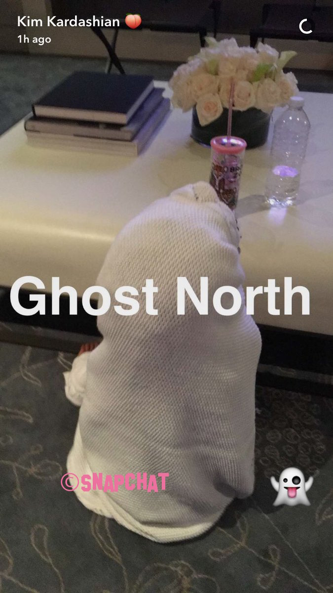 North West Dresses Like A Ghost In Kim Kardashian's Recent Snapchat
