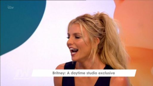 Britney Spears Chews On Chewing Gum During Loose Women Interview