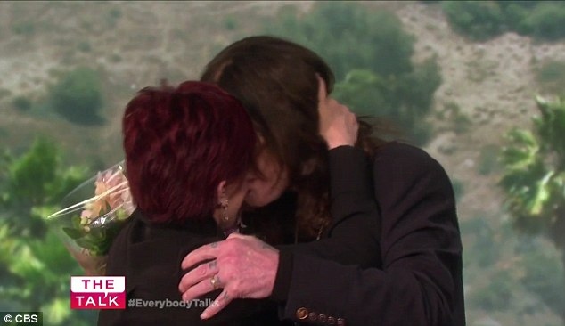 Ozzy Osbourne Surprises Wife Sharon With Flowers For Her Birthday On The Talk!