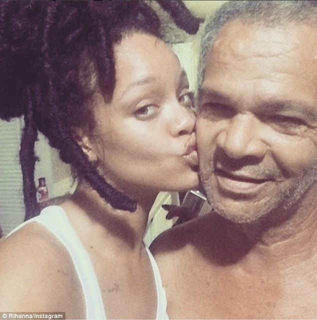 Rihanna Poses For Rare Selfie With Her Father