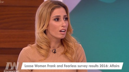 Stacey Solomon Announces She Has Sexcaull Trasmitted Dieses On Loose Women.