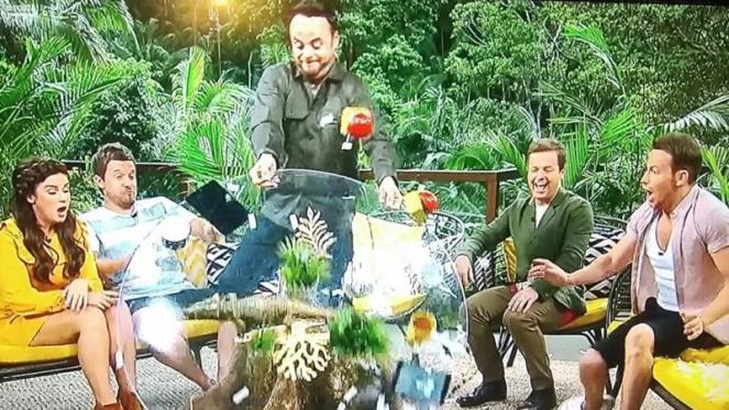 Ant Mcpartlin Destroys The I'm A Celebrity Sets As He Upturns The Tabel